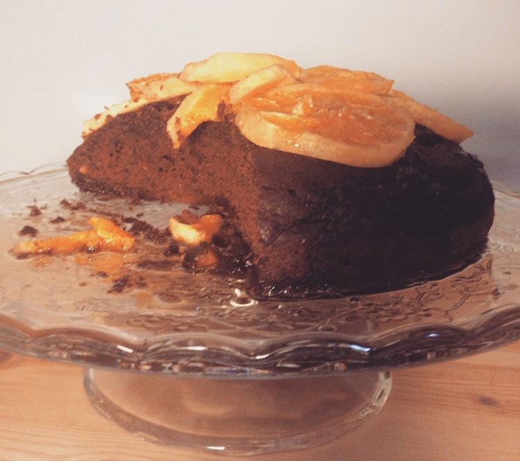 Torta soffice arancia e nocciola, con un accento di castagne