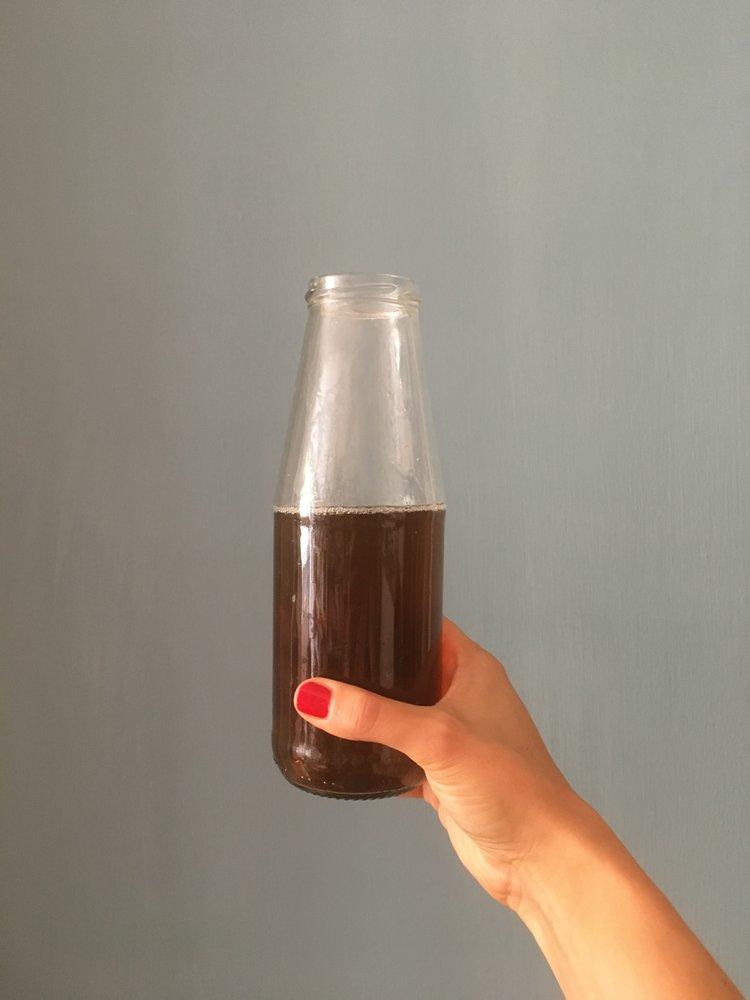Io bevo l'acqua di cottura della cicoria